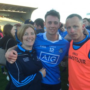 Dubs u21 manager Joe Fortune with selector Eimear Dignam and Dublin wing forward Cian Boland after victory over Wexford